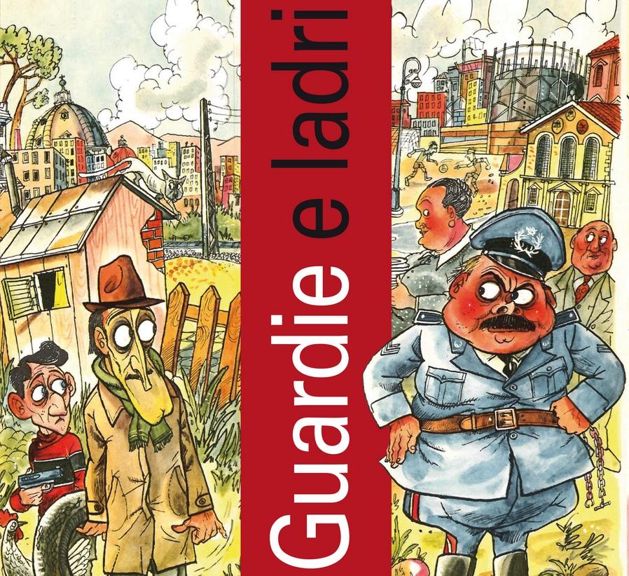 """Particolare della copertina del volume """"Guardie e ladri"""", a cura di Alòberto Anile"""