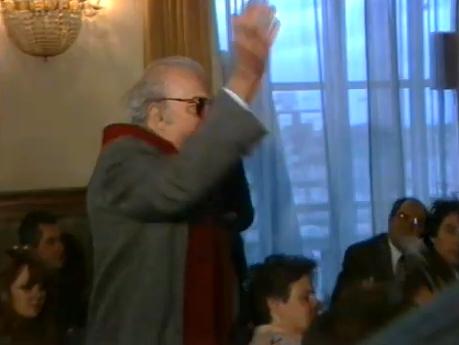 Fellini all'inaugurazione dell'anno accademico 1988
