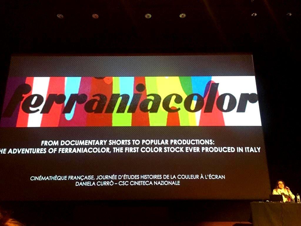 La Conservatrice della Cineteca Nazionale, Daniela Currò, ha svelato al pubblico francese storia e curiosità della prima pellicola a colori prodotta in Italia
