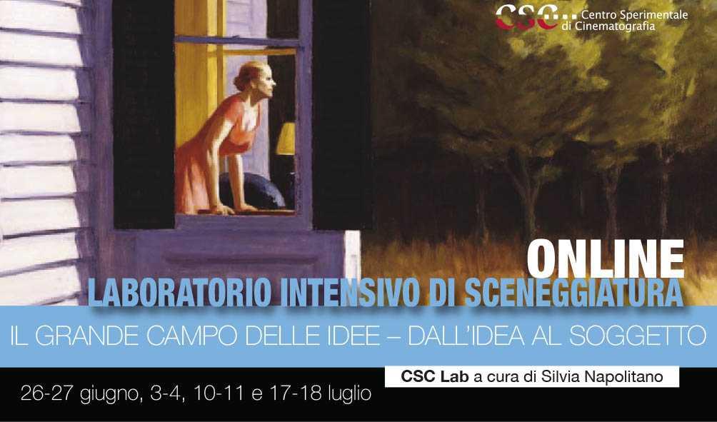 """Laboratorio intensivo di sceneggiatura """"Il grande campo delle idee – Dall'idea al soggetto"""" a cura di Silvia Napolitano, 2020"""