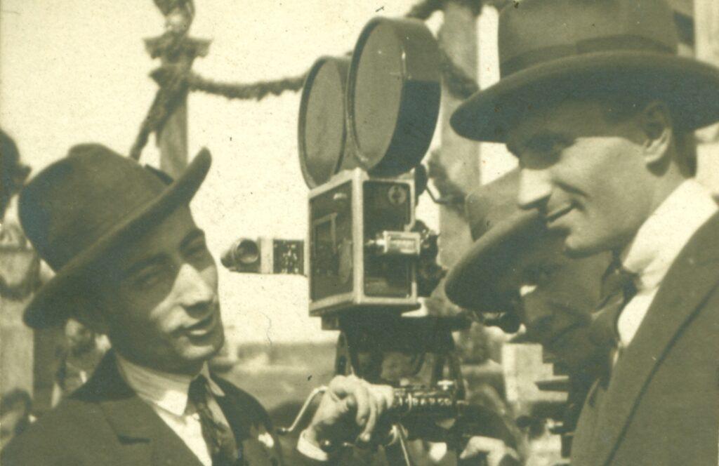 """Curt Courant e Alfredo Donelli sul set di """"Quo vadis """"1924"""
