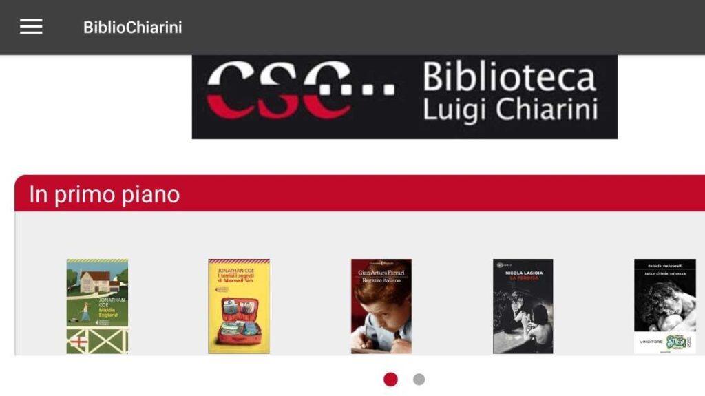 App Biblio Chiarini