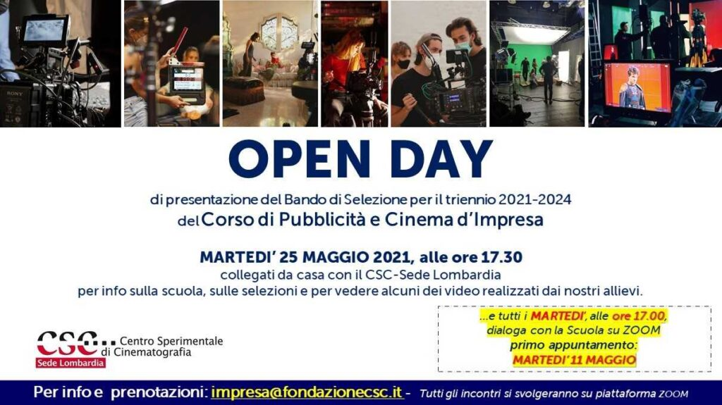 Open Day Sede Lombardia 2021