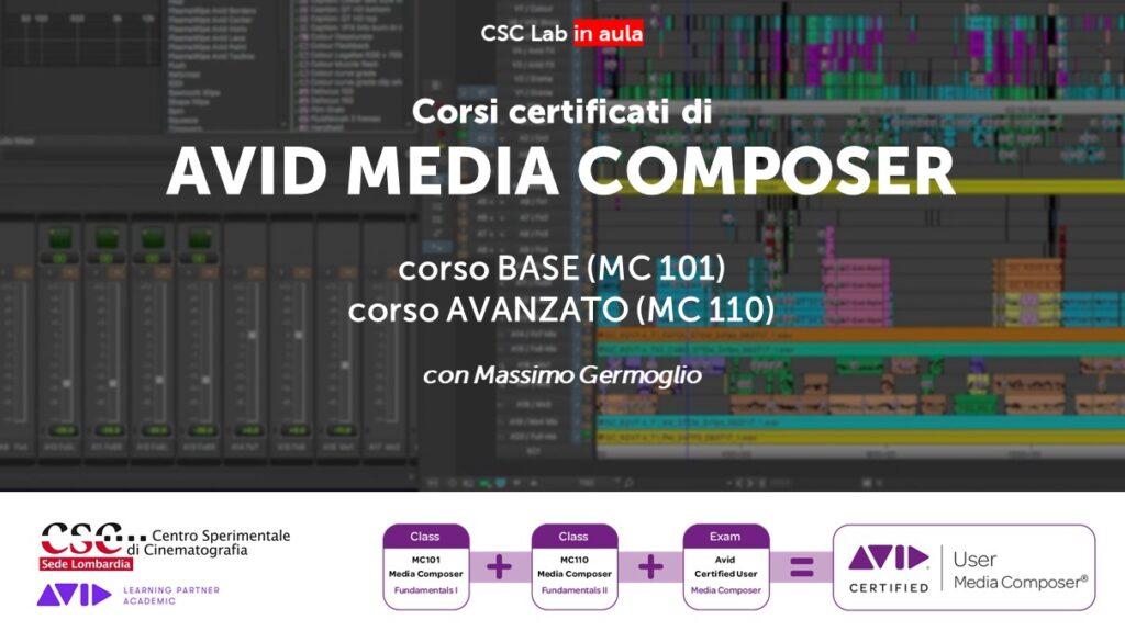 Corsi certificati di AVID MEDIA COMPOSER con Massimo Germoglio 2021